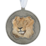 Adorable Lion Pewter Ornament