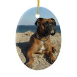 Cute Boxer Dog Ornament