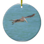 Gliding Pelican Ceramic Ornament