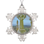 In Memory Snowflake Pewter Christmas Ornament