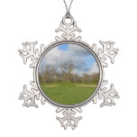 Let's Play Golf Snowflake Pewter Christmas Ornament