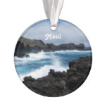 Maui Waves Crashing Ornament