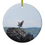 Osprey on Nest Ceramic Ornament