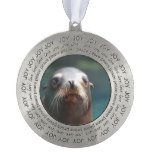 Sea Lion with Whiskers Pewter Ornament