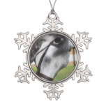 Sweet Appaloosa Horse Snowflake Pewter Christmas Ornament