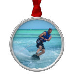 Wakeboarding in the Tropics Metal Ornament